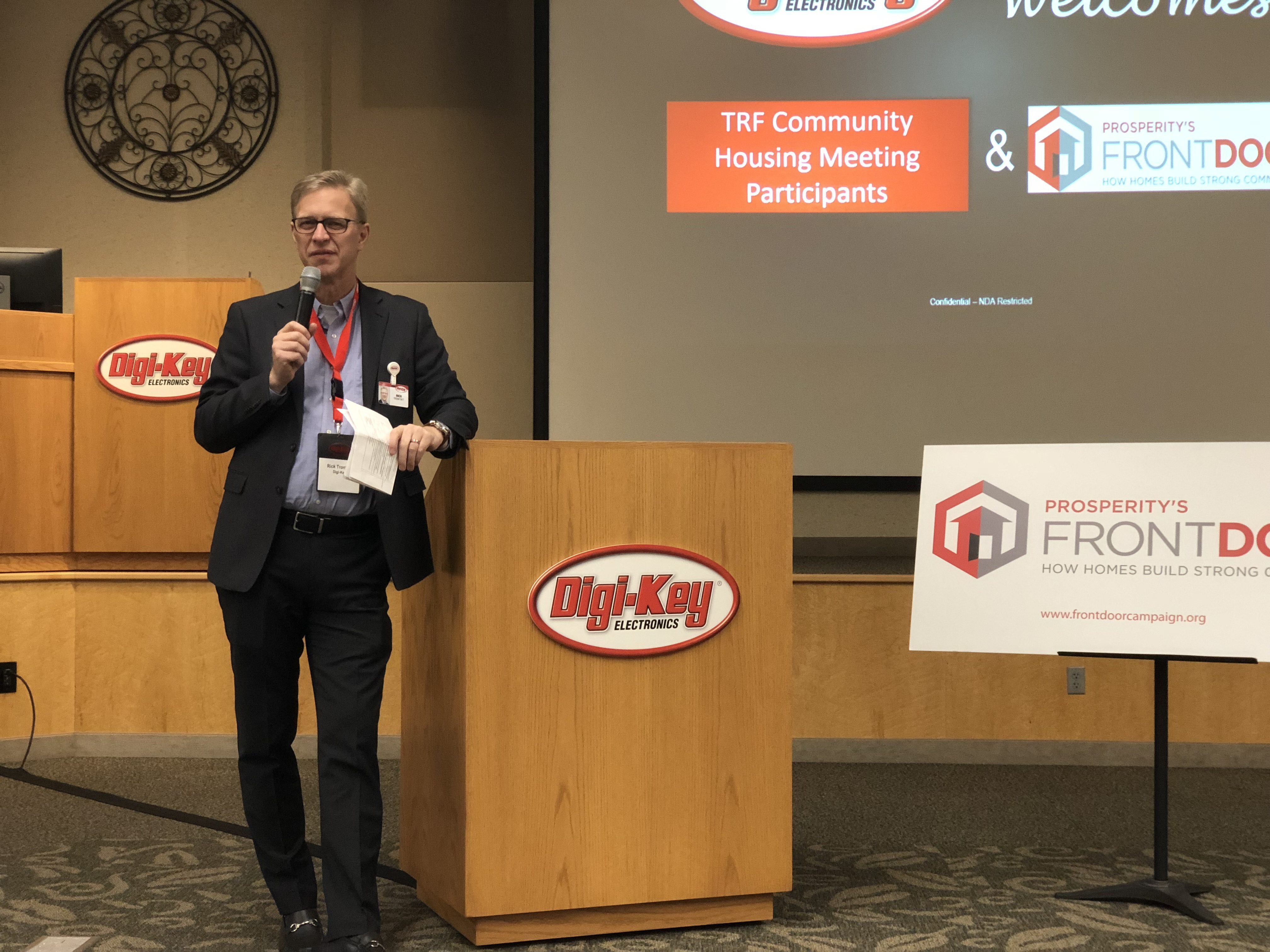Rick Trontvet, Vice President, Digi-Key, Housing development in Thief River Falls, Minnesota