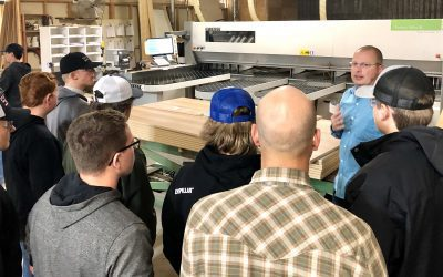 Area Students Tour Northern Woodwork Inc.
