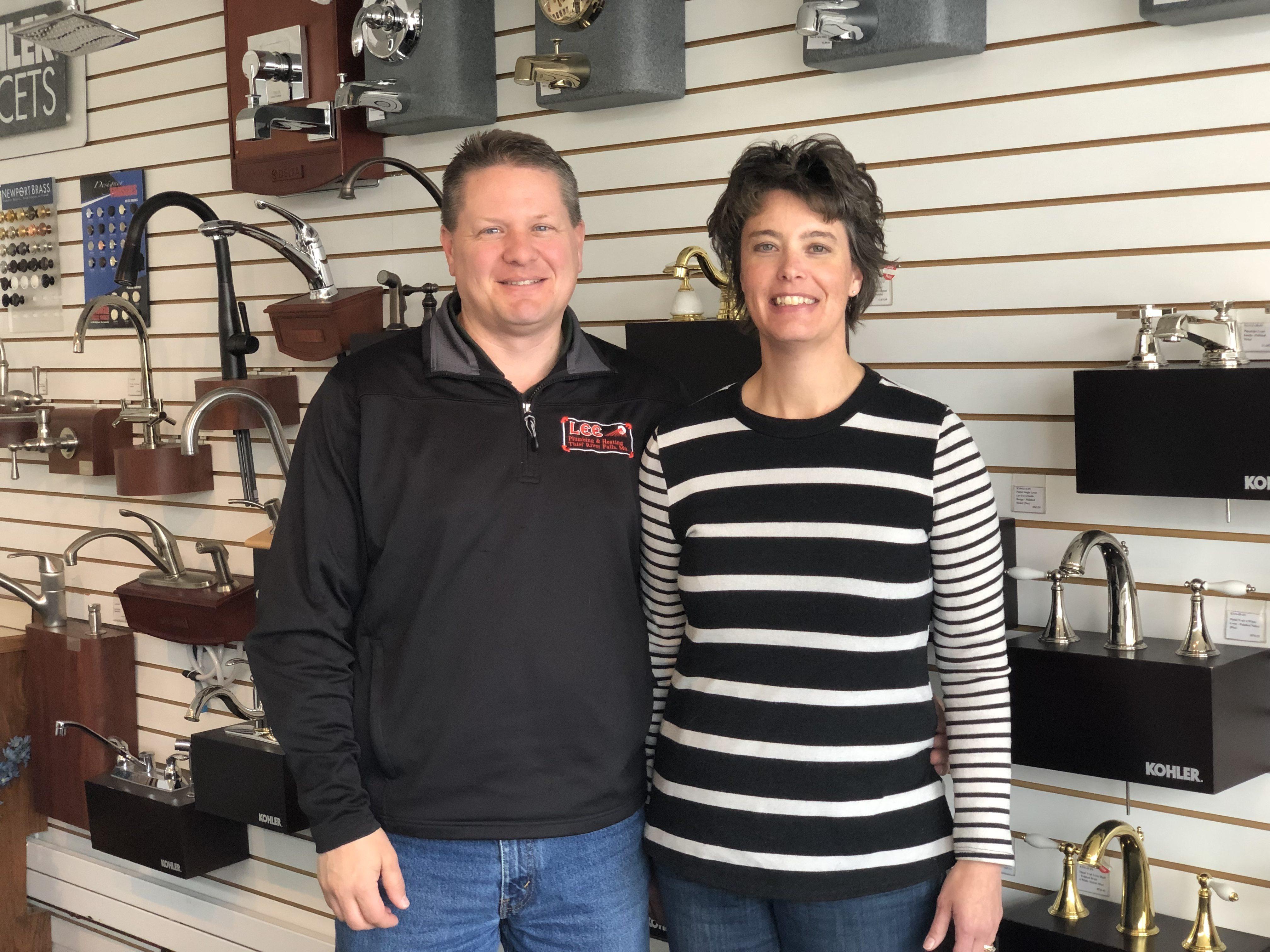 Derek and Stacy Lee, Lee's Plumbing and Heating