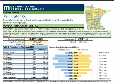 Pennington County Labor Force Report